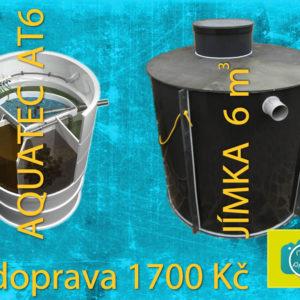 Zvýhodněný set domácí čističky AQUATEC AT6 a akumulační jímky 6 m3