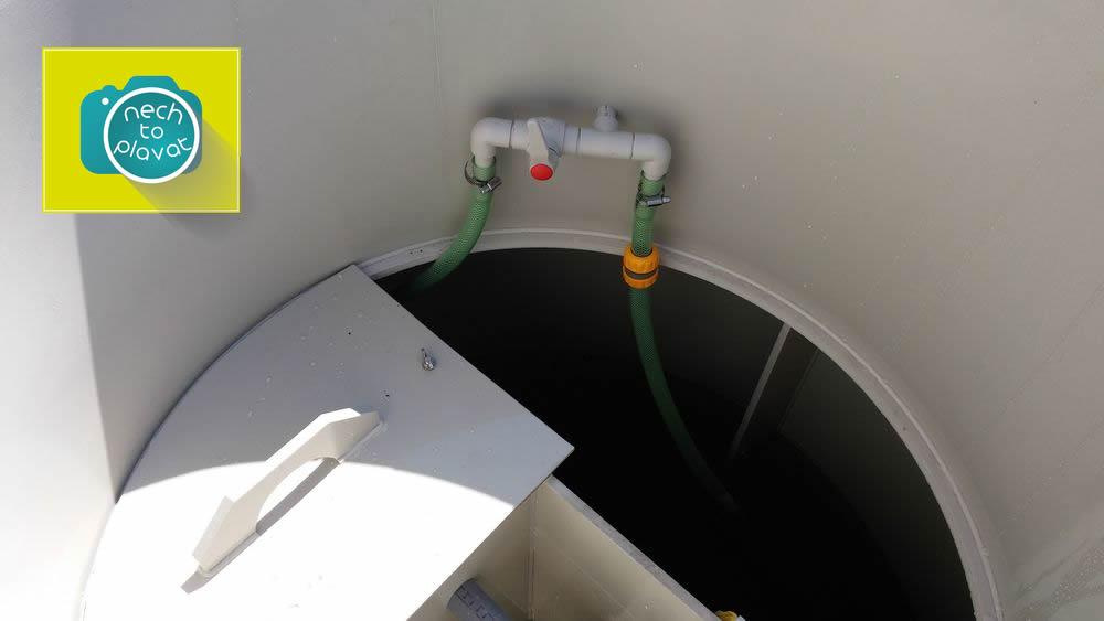 Domácí čistička AS-VARIOcomp - ventil pro přečerpávání kalu