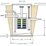 Biologický filtr BF1-EK (EKOCIS) - kótované schéma
