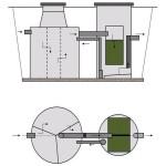 Biologický filtr BF-EK (EKOCIS) - schéma napojení biofiltru za septikem