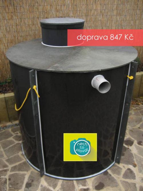 Plastová jímka na odpadní a dešťovou vodu