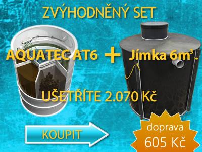 Zvýhodněný set čističky AQUATEC AT6 a akumulační jímky 6 m3